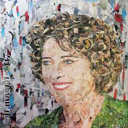 collage art 80x80cm