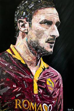 Paper Collage Francesco Totti