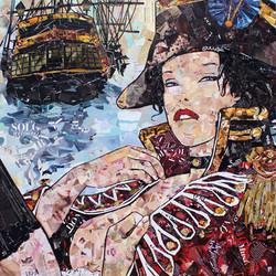 Manara - Collagework 120x120cm