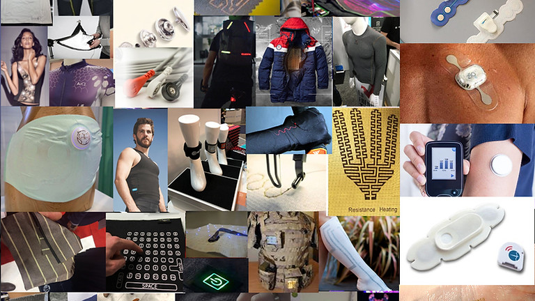 Electronic Textiles, Skin Patches & Wearable Electronics