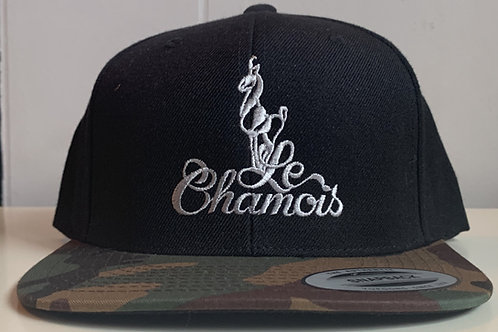 Snapback Black with Camo Bill Baseball Hat
