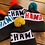 Thumbnail: Chamois Custom Coal Pom Beanie - Red with Teal