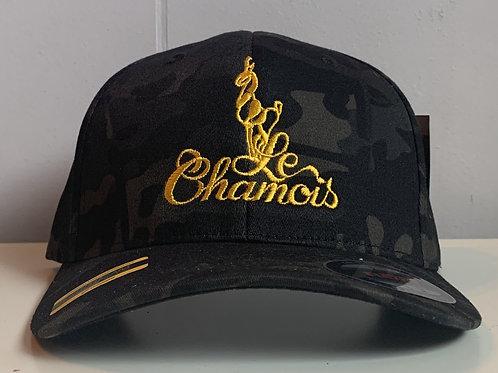 Flexfit Black Camo Baseball Hat