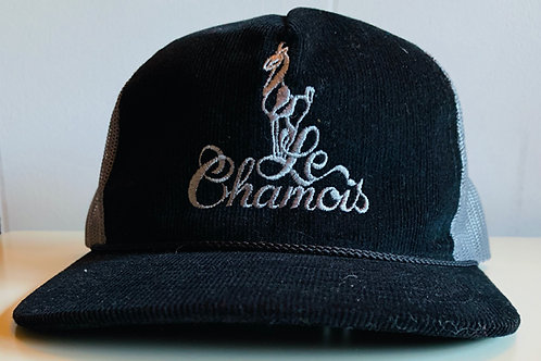 Richardson Old School Baseball Hat - Black Corduroy with Gray
