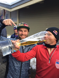 Drinking from The Kitz Trophy...