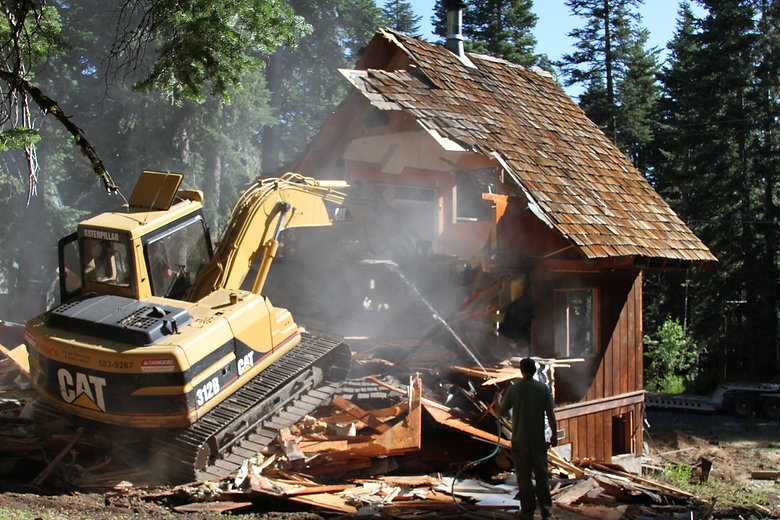 Structure Demolition and Removal is one of our specialties.