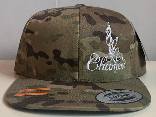 Snapback Multi-Camo Baseball Hat