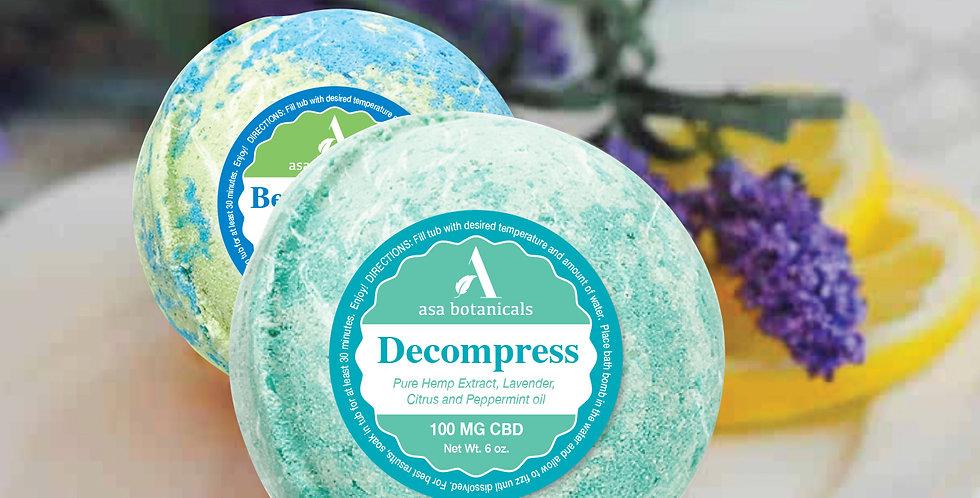 Decompress CBD Bath Bomb