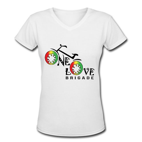 Women's V-Neck White