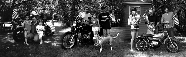 Ensanian family annual motorcycle 4th of July picture