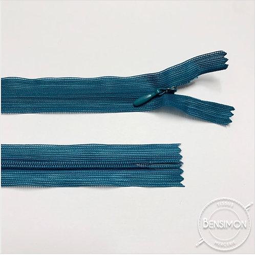 Fermeture invisible 4mm non séparable - Turquoise foncé