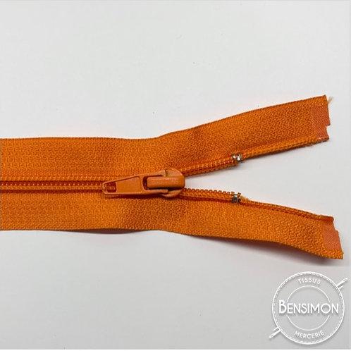 Fermeture spirale 5mm séparable - Orange