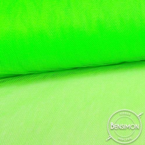 Tissu Tulle souple grande largeur - Fluo Vert X 1M