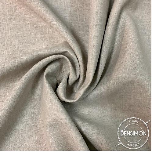 Tissu Lin - Beige couleur lin X 50cm