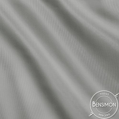 Tissu doublure satin - Gris clair X 50cm