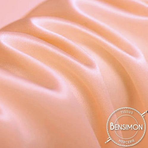 Tissu satin premium - Saumon X 50cm
