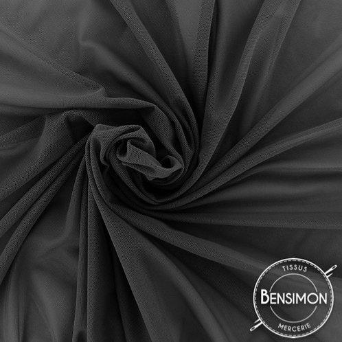 Tissu Tulle élasthanne résille - Noir X 1M