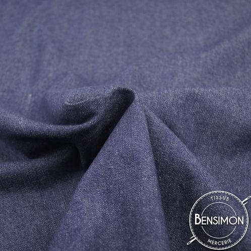 Tissu Jeans Stretch - Bleu Moyen X 50cm