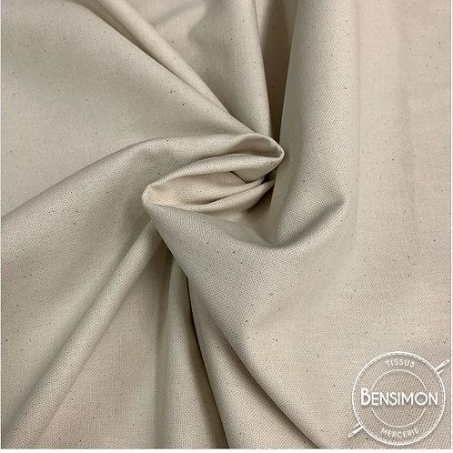Tissu natté 100% coton 2m80 - Naturel X 50cm