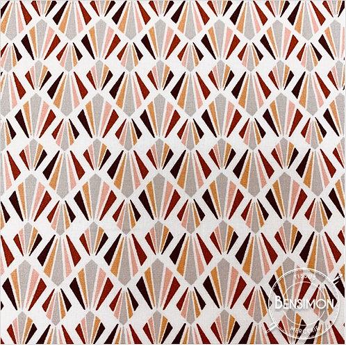 Tissu coton imprimés - Payani rose X 50cm