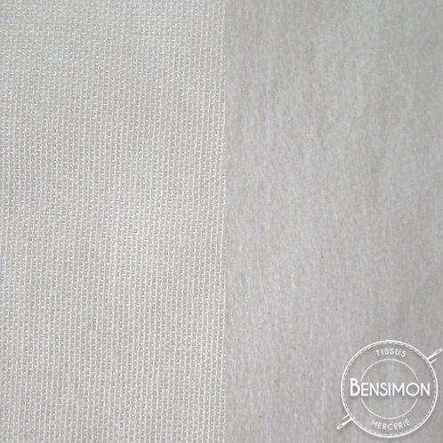 Entoilage thermocollant tissé double face - Blanc X 50cm
