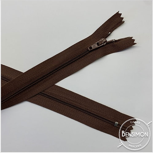Fermetures nylon 3mm non séparables - Marron 20 à 60cm