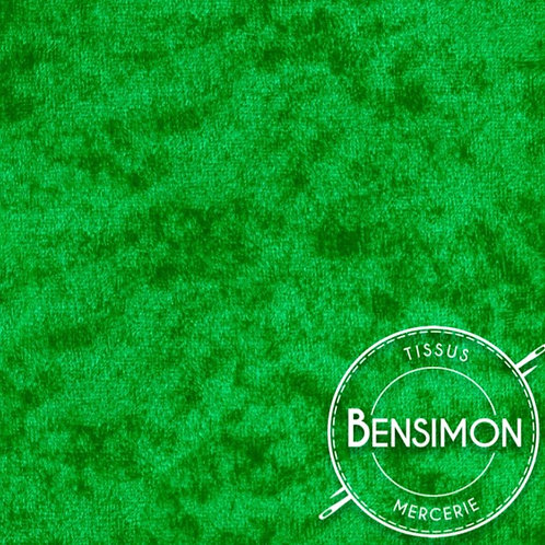 Tissu Panne de Velours - Vert X 50cm