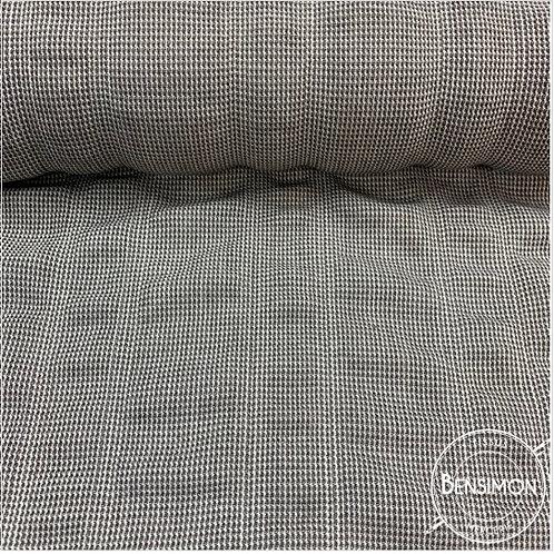 Tissu imprimé gauffré - Carreaux Gris X 50cm