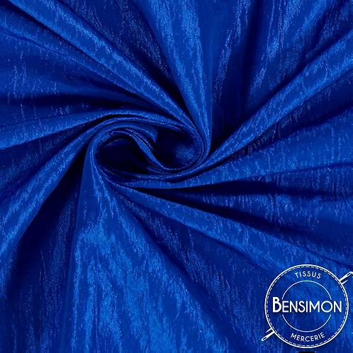Tissu satin taffetas - Bleu Roi X 50cm