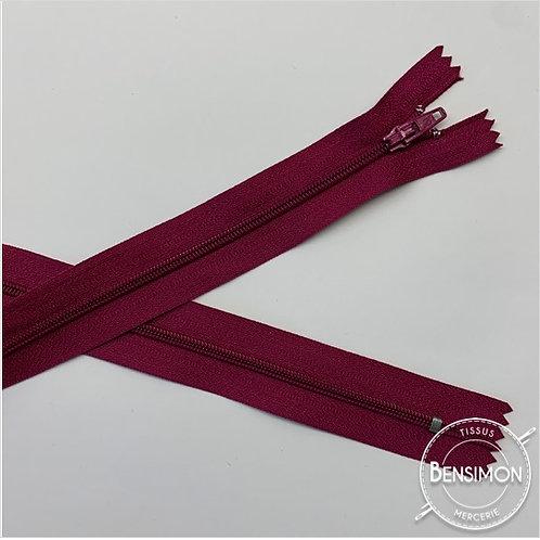 Fermetures nylon 3mm non séparables - Fuchsia foncé 20 à 60cm