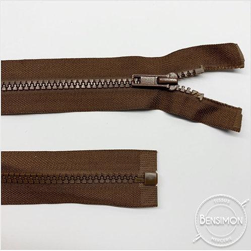 Fermeture injectée 5mm séparable - Marron