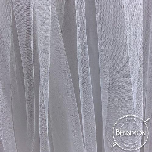 Tissu Tulle souple Morbido - Blanc X 1M