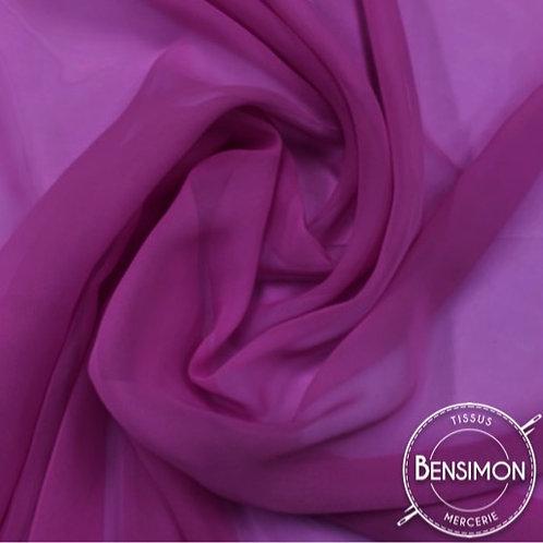 Tissu Mousseline - Prune X 50cm