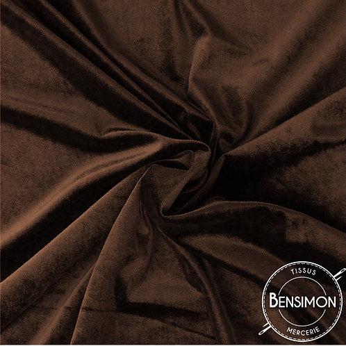 Tissu Velours - Marron X 50cm