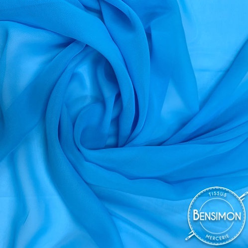 Tissu Mousseline - Turquoise X 50cm