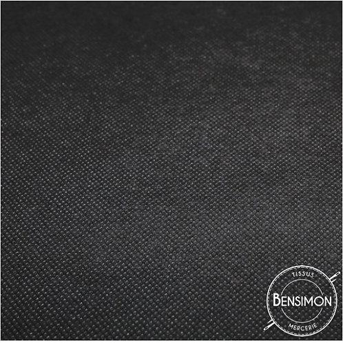 Tissu non tissé - Noir X 1m
