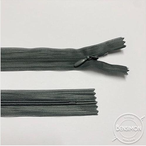 Fermeture invisible 4mm non séparable - Gris moyen