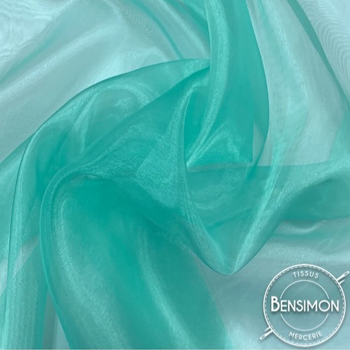 Tissu Organza - Vert d'eau X 50cm
