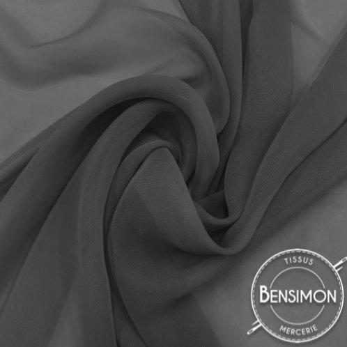 Tissu Mousseline - Gris anthracite X 50cm