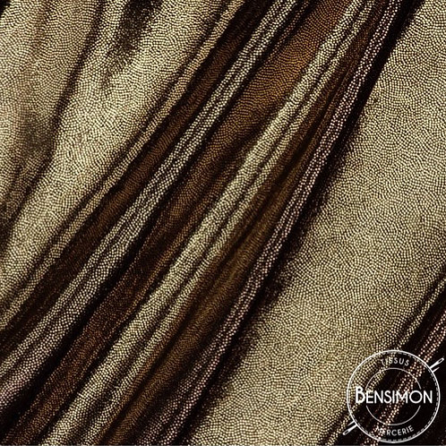Tissu type Lycra Lamé - Noir & Doré X 50cm