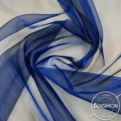 Tissu Organza reflets changeants - Bleu X 50cm