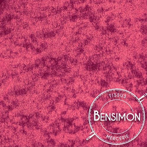 Tissu Panne de Velours - Fuchsia X 50cm