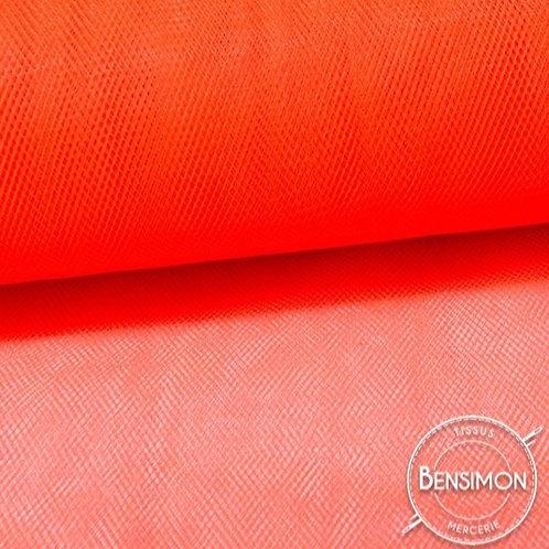 Tissu Tulle souple grande largeur - Orange X 1M