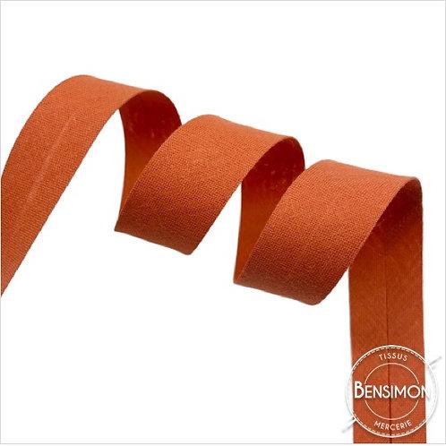Biais coton replié 20mm - Terracotta n°1052