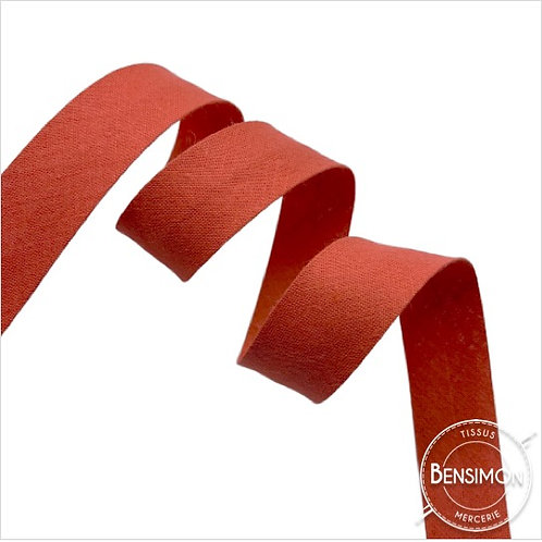 Biais coton replié 20mm - Cuivre n°1092