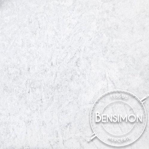 Tissu Panne de Velours - Blanc X 50cm