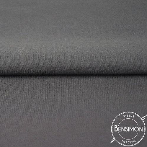 Tissu natté Gabardine Coton - Gris anthracite  X 50cm