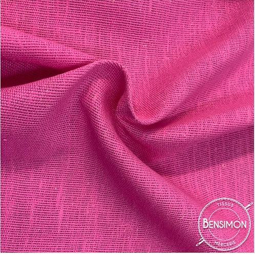 Tissu toile de Jute - Rose X 50cm