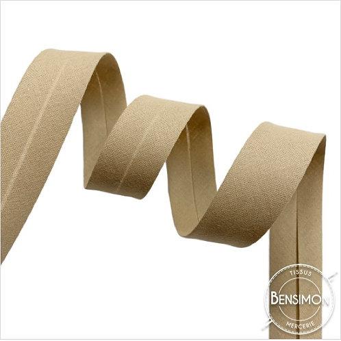 Biais coton replié 20mm - Beige n°1010