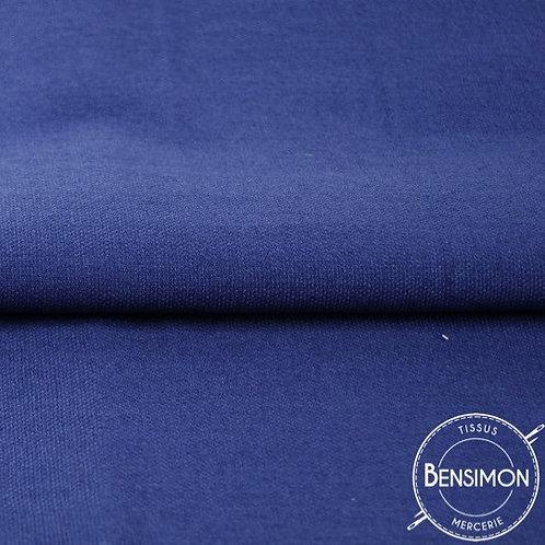 Tissu natté Gabardine Coton - Bleu Roy X 50cm